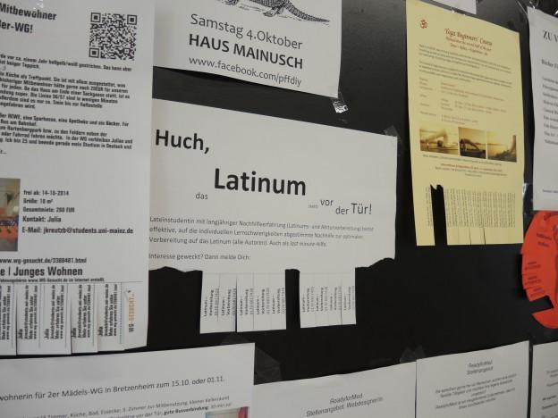 """Latinum = """"eine unverhältnismäßig große Anforderung an das Studium""""?"""