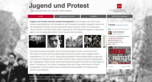 Jugend und Protest – Lehrprojekt an der JGU Mainz